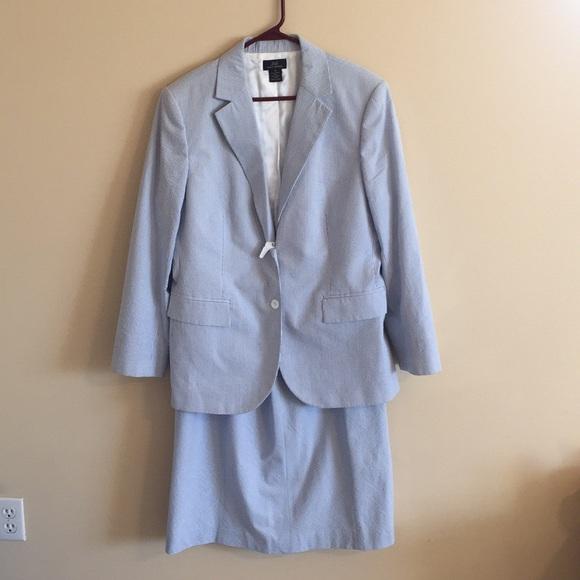Brooks Brothers Skirts 346 Womens Seersucker Suit Poshmark